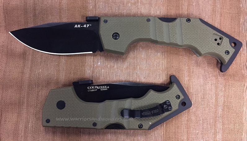 Cold Steel 58TLAKVG AK-47 CTS XHP w/ OD Green G-10 Handle