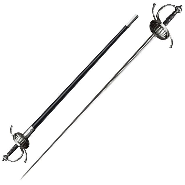 Cold Steel 88CHR Ribbed Shell Swept Hilt Rapier (Online Only)