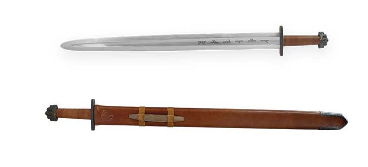 Condor Viking Ironside Sword with Leather Scabbard CTK1014-4