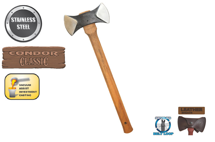 Condor CTK4024C Thunder Bay Double Bit Cruiser Axe