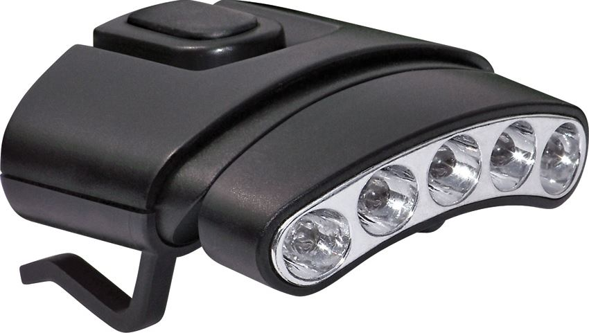 Cyclops Tilt 5 LED Hat Clip Light 7845 - Black