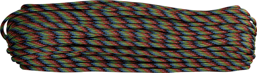 550 Paracord, 100Ft. - Dark Stripes