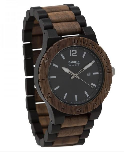 Dakota Watch Company 26342 Wooden Watch Ebony/Walnut