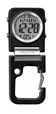 Dakota Watch Company 30881 Clip Clock- Black