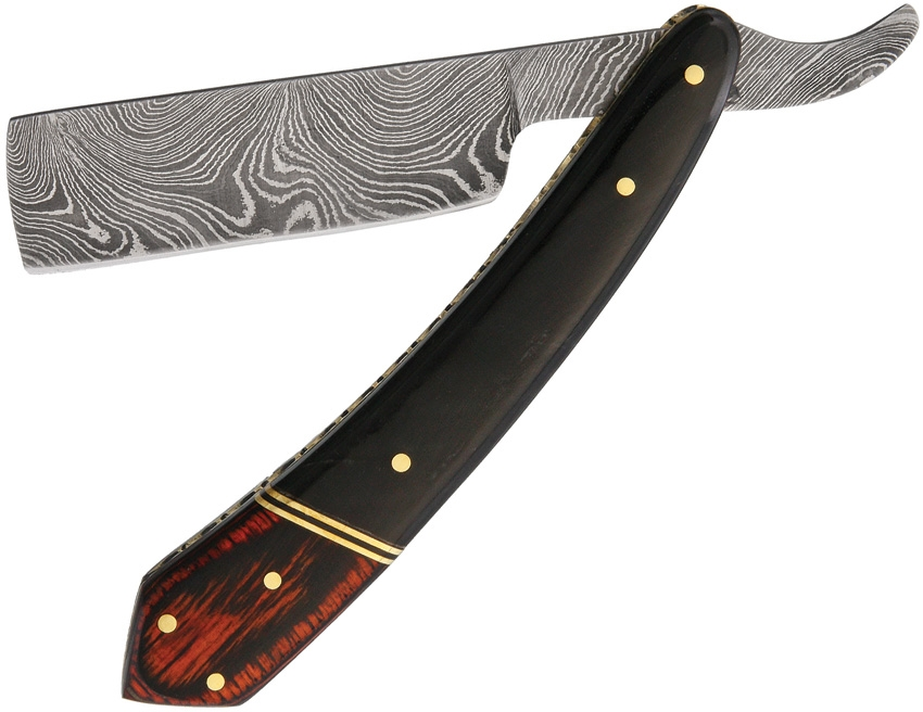 Damascus 1116HN Buffalo Horn Razor Knife