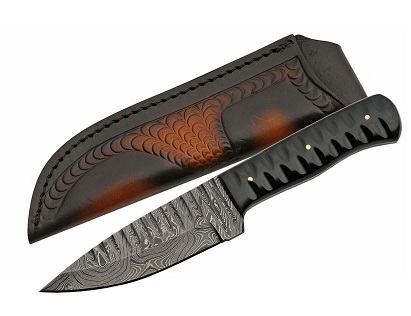 Damascus 1198HN Sharktooth - Horn Handle