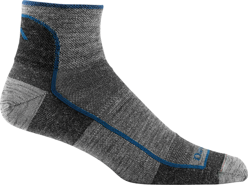 Darn Tough 1715 1/4 Sock Light - Charcoal