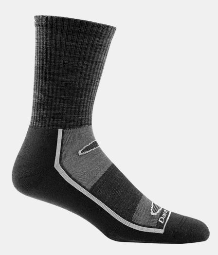 Darn Tough 1745 Gym Sock Solid Crew Light Cusion - Black