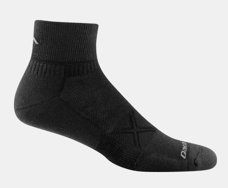 Darn Tough 1770 Vertex 1/4 Sock Ultra-Light Cushion - Black