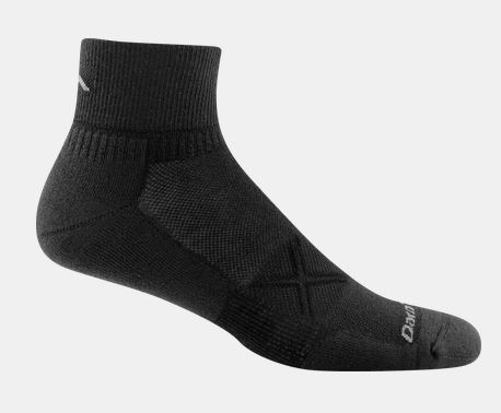 Darn Tough 1773 Coolmax Vertex 1/4 Sock Ultra-Light - Black
