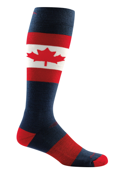 Darn Tough 1842 O Canada Over-the-Calf Cushion Socks- Maple