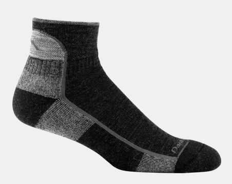 Darn Tough 1905 Hiker 1/4 Sock Cushion - Black