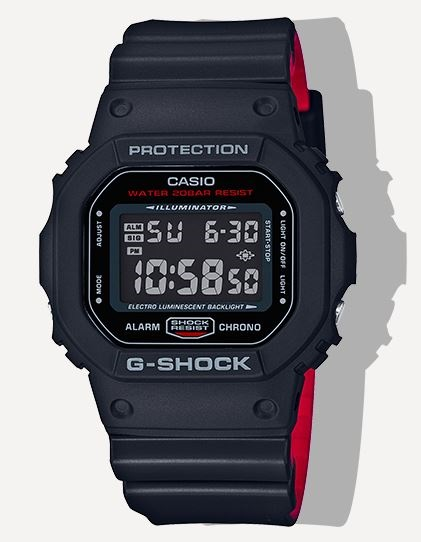 G Shock DW5600HR-1 Red Heritage