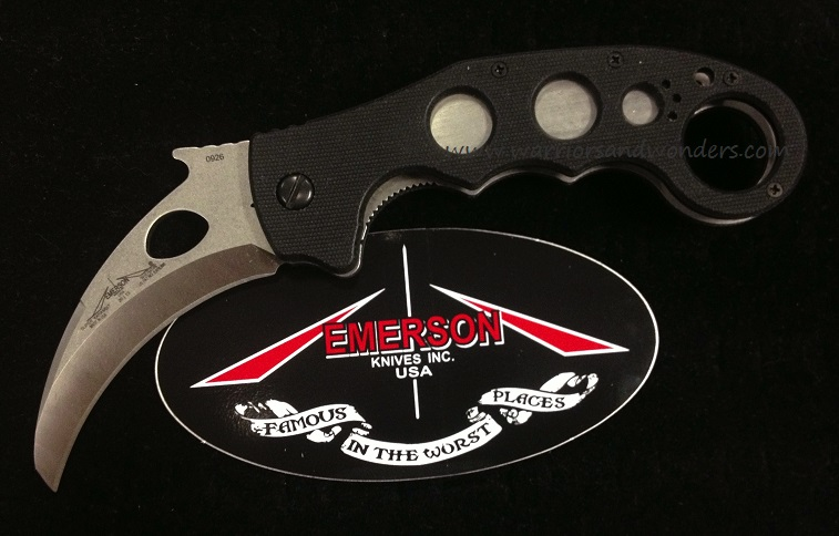 Emerson Karambit Super SF Stone Washed Satin (Online Only)