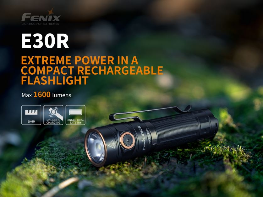 Fenix E30R Rechargeable Flashlight - 1600 Lumens