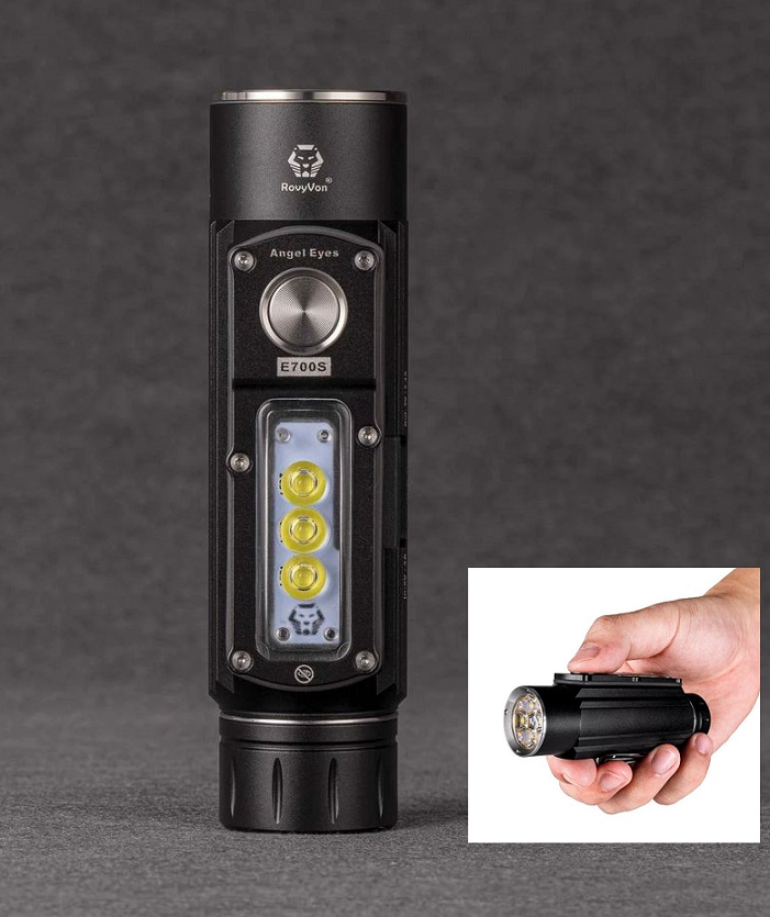 RovyVon Angel Eyes E700S Multipurpose High Power Compact Flashlight - 2800 Lumens