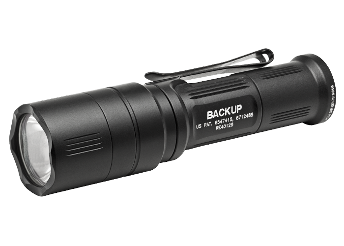 Surefire EB1 Backup LED 5/200 Lumens - Click Switch With Shroud