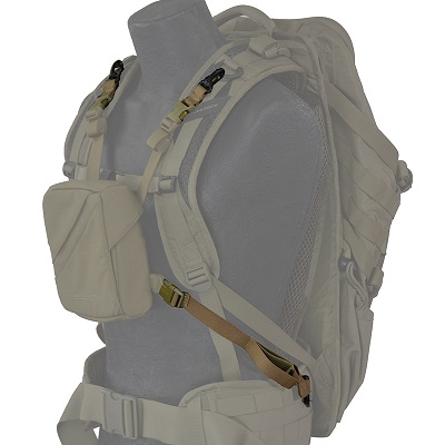 Eberlestock Pouch Chest Mount Kit - Dry Earth [ HD Buckle]