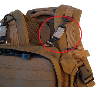 Eberlestock Pouch Chest Mount Kit - Dry Earth