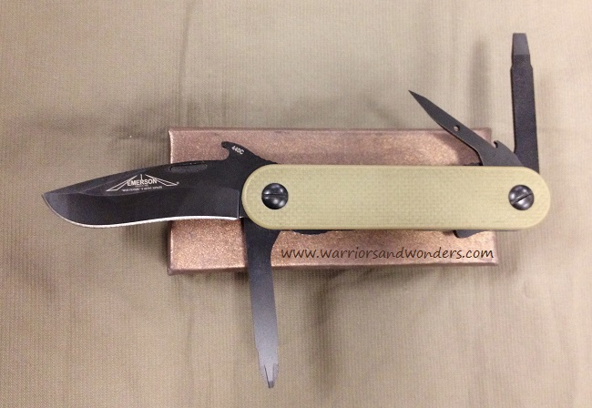 "Emerson EDC2 MultiTool Tan, Black Plain Edge ""Wave"" (Online Only"