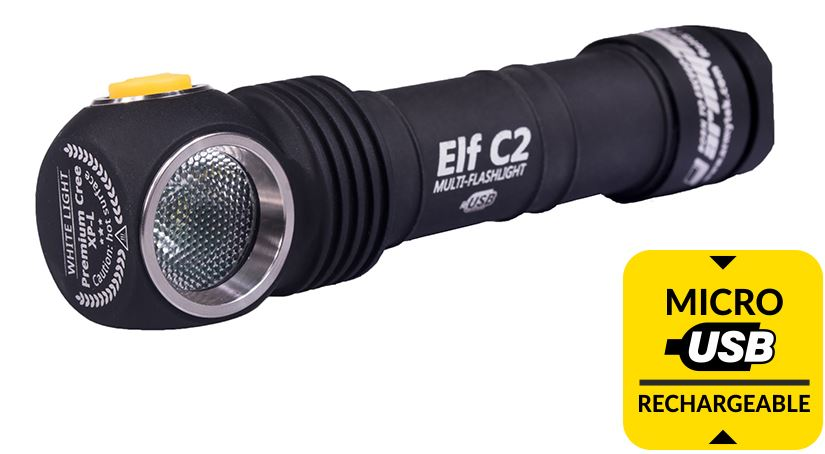 ArmyTek Elf C2 Rechargeable Cool White - 900 Lumens