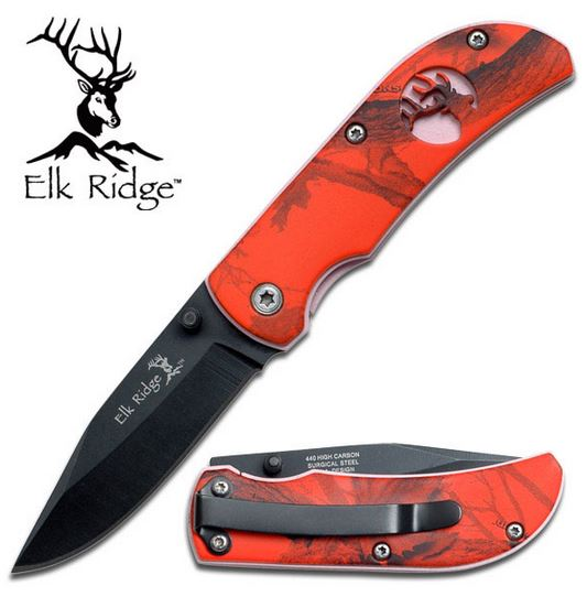 Elk Ridge ER120RC Red Camo Cutout (Online Only)
