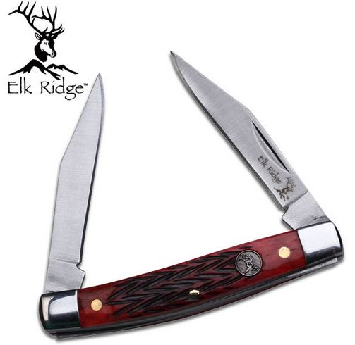 Elk Ridge ER211MRB Gentleman's Folder- Jigged Bone (Online Only)