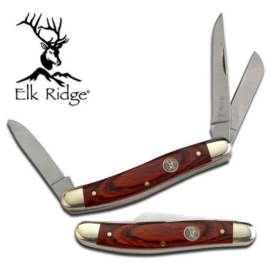 Elk Ridge ER323W Stockman Mini- Pakkawood (Online Only)