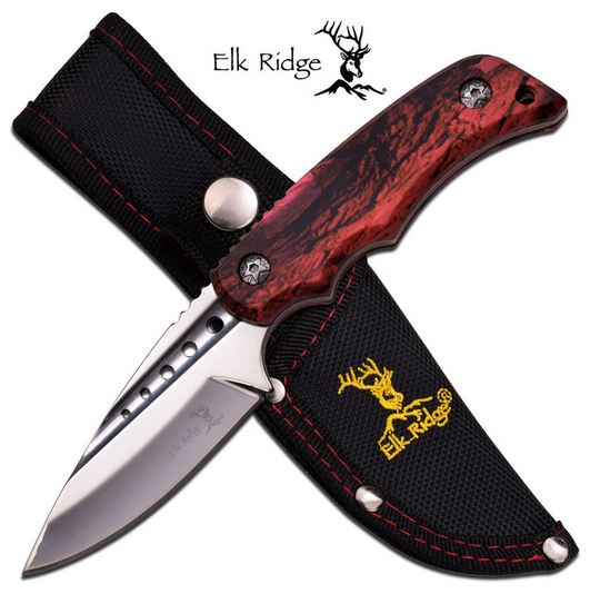 Elk Ridge ER535PC Camo Fixed Bladle (Online Only)