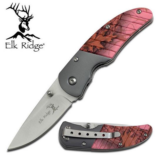 Elk ER732PC Pink Camo Plain Edge (Online Only)