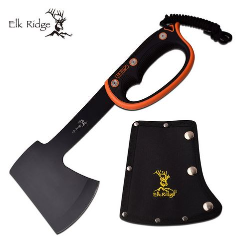 Elk Ridge AXE1 Black & Orange D-Handle Axe (Online Only)