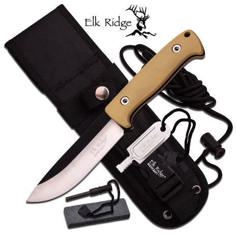 Elk Ridge ER555TN Fixed Blade w/Nylon Sheath (Online Only)