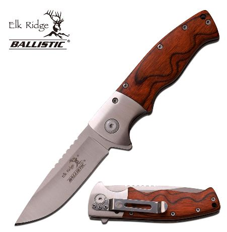 Elk Ridge ERA010SPW Folding Knife Asssited Opening (Online Only)