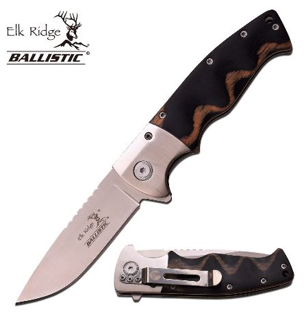 Elk Ridge ERA010SGY Folding Knife Assisted Opening