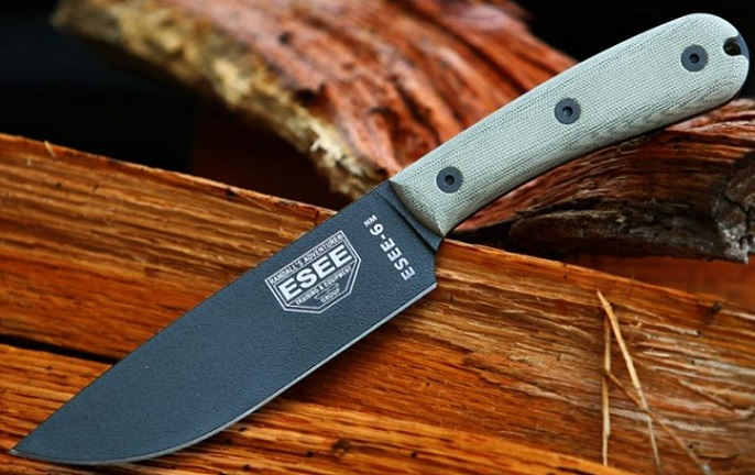 ESEE 6-HM-K Plain Edge Modified Handle with Kydex Sheath
