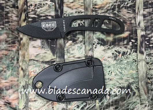 ESEE CAN-B-E Candiru Black, Black Molded Sheath (Online Only)