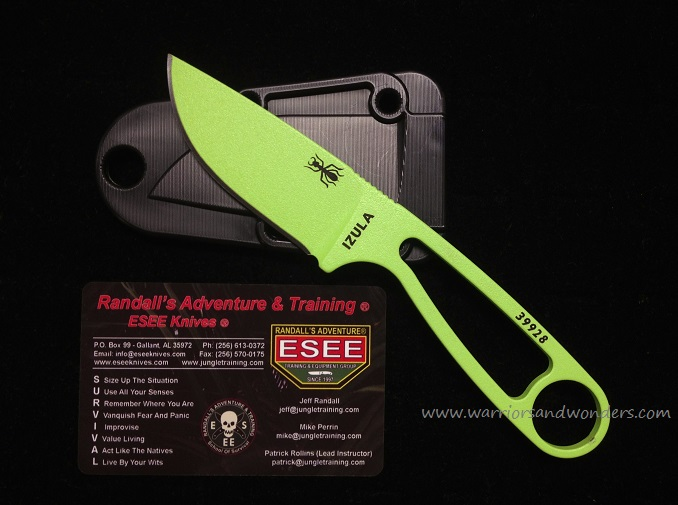 ESEE Izula - Venom Green with Sheath & KIT (Online Only)