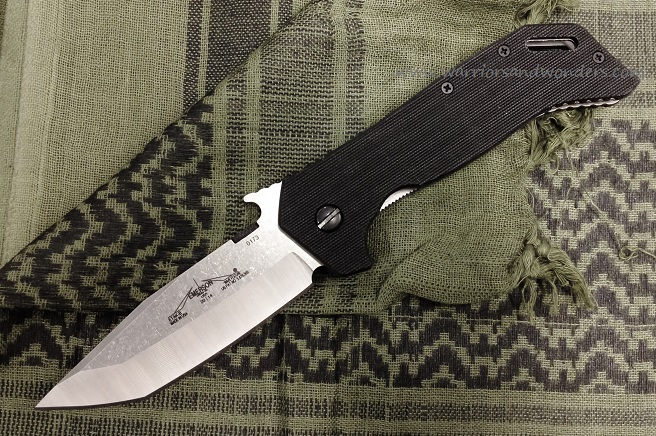 Emerson E.T.A.K. B-BKSF Stonewash Plain Edge, Black G-10 Handle