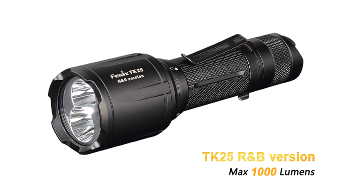 Fenix TK25 Red & Blue Tactical Hunting Light - 1000 Lumens