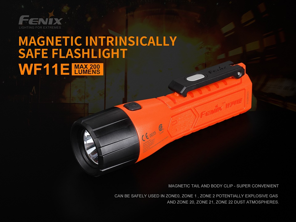 Fenix WF11E Intrinsically Safe Flashlight - 220 Lumens