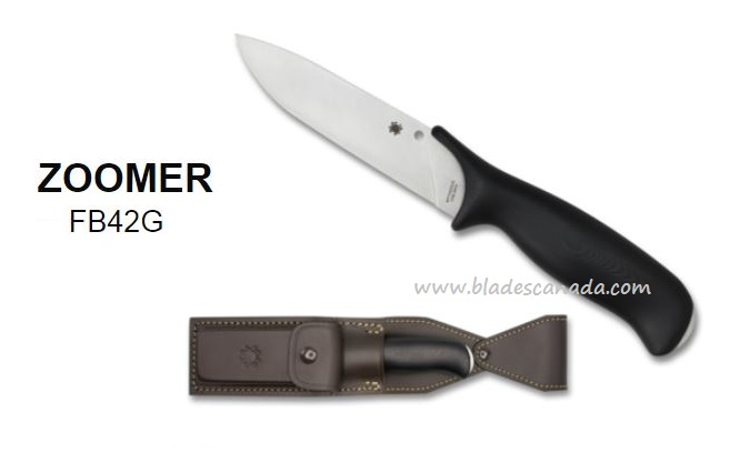 Spyderco Zoomer Fixed Blade, CPM-20CV Steel FB42GP (Online Only)
