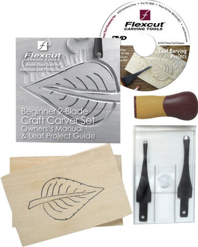 Flexcut SK111 Beginner Craft Carver Set - Leaf