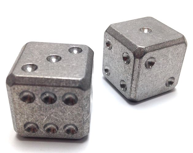 Flytanium Co. 001 Cuboid Large Titanium Dice Set - Stonewash