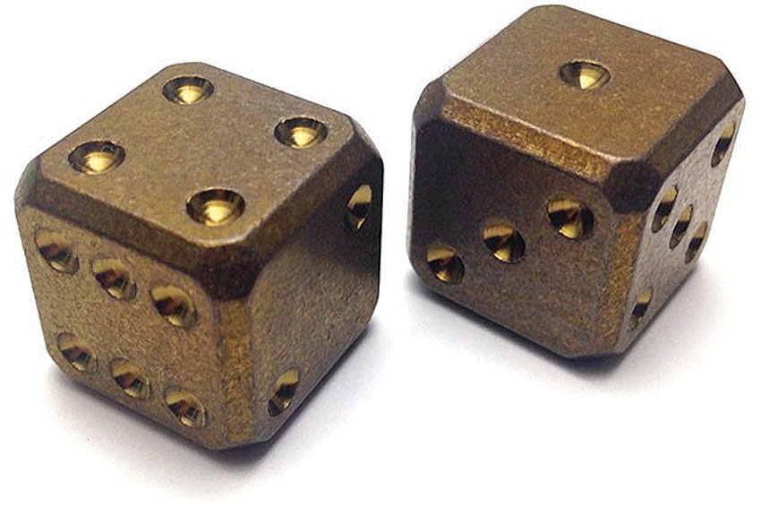 Flytanium Co. 005 Cuboid Large Titanium Dice Set - Bronze