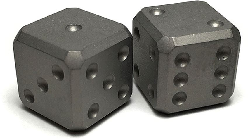 Flytanium Co. 006 Cuboid Large Titanium Dice Set - Beadblast