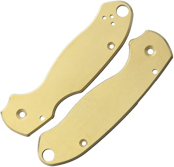 Flytanium Co Spyderco Para 3 Scales - Brass