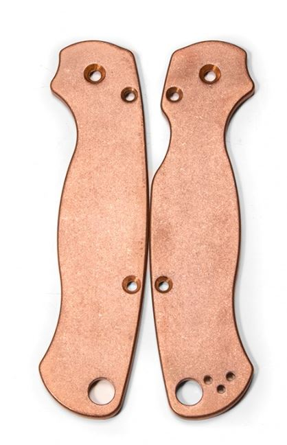 Flytanium Co. Copper Scales for the Spyderco Para-Military 2
