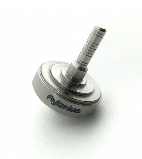 Flytanium Co. Lunar Mini Titanium Spinning Top - Satin