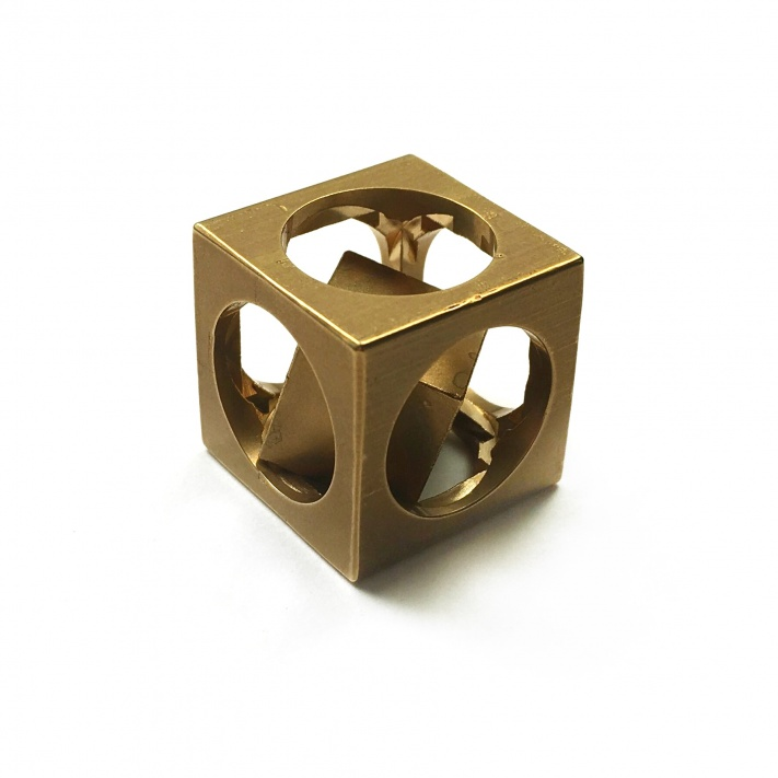 Flytanium Co. FlyCube Brass Antique Stonewash