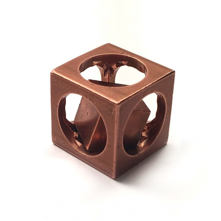 Flytanium Co. FlyCube Copper Antique Stonewash